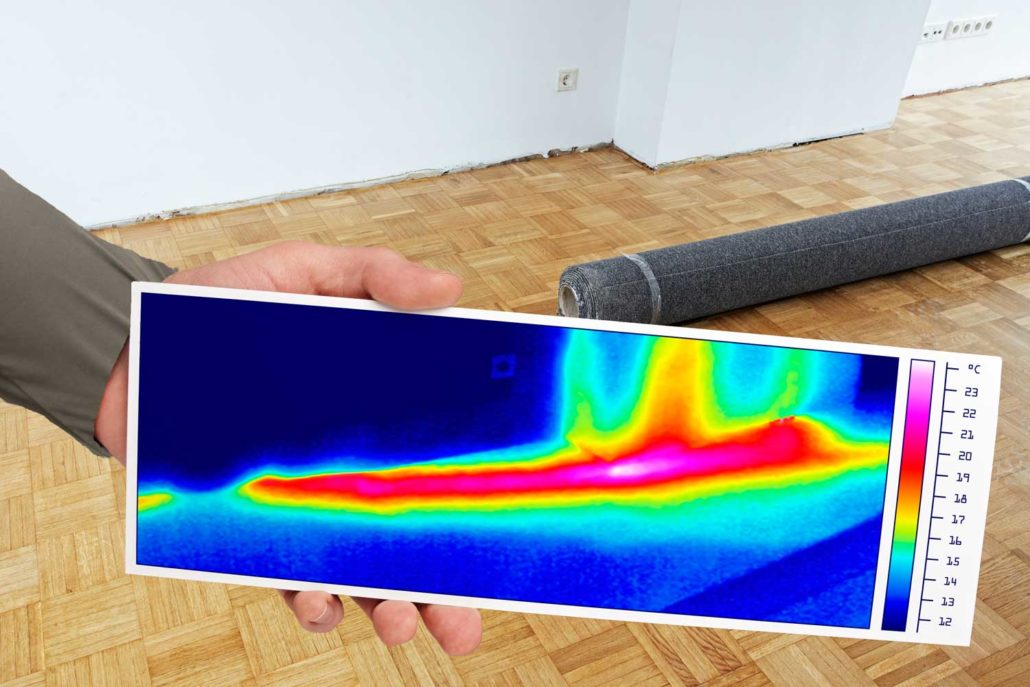 Leckage-Ortung mittels Thermografie